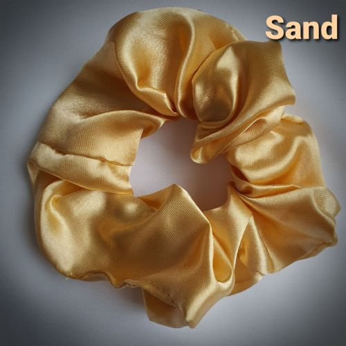 Sand Satin Scrunchie